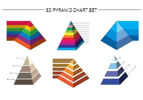 Gráfico pirâmide 2 vetor