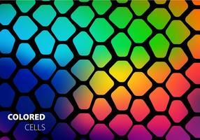 Vetor de células coloridas livres