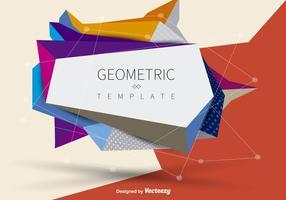 Banner geométrico vetor