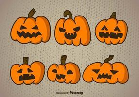 Abóbora Halloween dos desenhos animados vetor