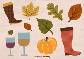 Elementos de outono vetor