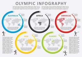 Vector de infografia olímpica