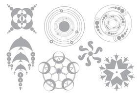 Círculos de colheitas de vetores simples