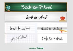 Banners de regresso à escola vetor
