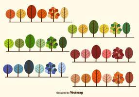 Coleção de árvores sazonais vetor