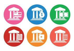 Vetores de ícones do banco