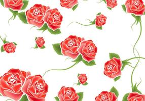 Vetor de fundo de rosas