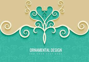 Fundo Decorativo Ornamental vetor