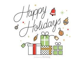 Cartão Vector Free Holidays Holidays