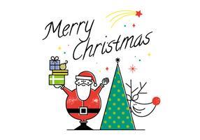 Cartão livre do vetor do Feliz Natal