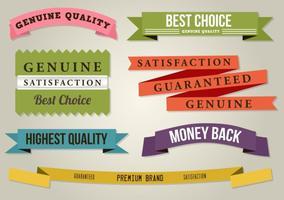 Fitas planas de melhor qualidade vetor