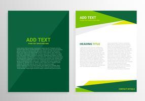 Projeto de modelo de folheto verde vetor
