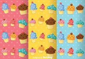 Cupcake feminino padrão vetores