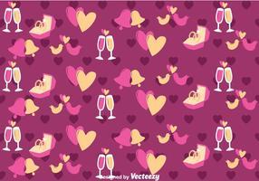 Amor roxo e padrão de casamento vetorial vetor