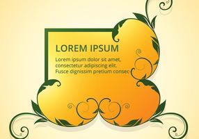 Design de quadro floral amarelo brilhante vetor