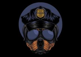 ilustração da polícia de rottweiler
