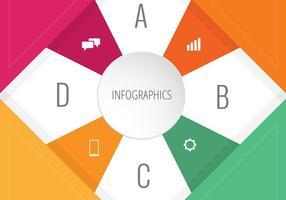 Projeto Infográfico colorido com ícones vetor