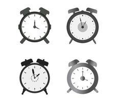 conjunto de ícones de despertador vetor