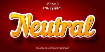 texto de script neutro, efeito de fonte editável em 3d