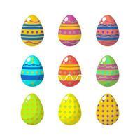 coleção de ovos estampados brilhantes vetor