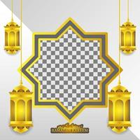 lanterna de ouro e forma abstrata vetor