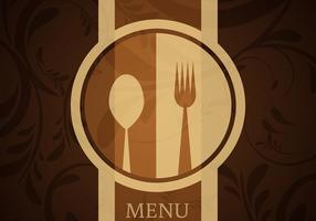 Vector do menu do restaurante