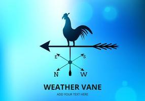 Vetor de vaneta meteorológica