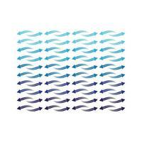 padrão de onda de setas vetor
