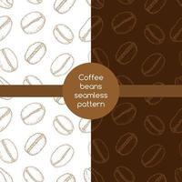 padrão sem emenda de grãos de café vetor