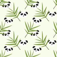 padrão de panda bonito vetor