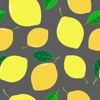 padrão tropical de limão fresco vetor