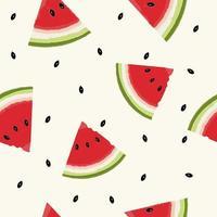 padrão de frutas frescas de melancia vetor