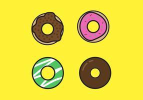 Vetores Donut Doce