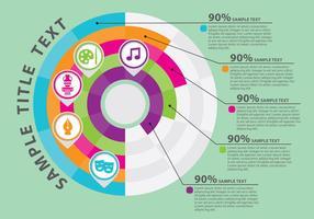 Gráfico de porcentagem de vetor de infografia