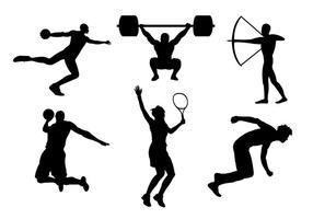 Ilustração vetorial esportiva vetor