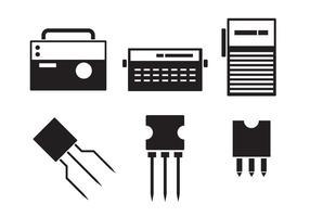Ícones de eletrônicos vetor