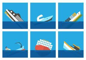 Vetores de navio afundado