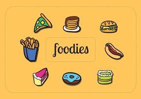 Vetores de alimentos criativos