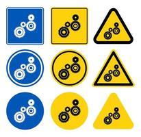 conjunto de sinal de quatro peças de engrenagem vetor