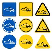 ícone de carregador de carro, reabastecer carros isolar em fundo preto, ilustração vetorial vetor