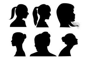 Vetores de perfil das mulheres