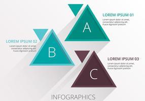 Vector de modelo de negócios infográficos triangulares