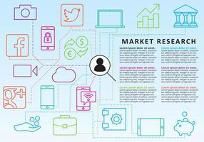 Vetores de ícones da linha de pesquisa de mercado