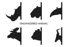 Vector Animais em extinção