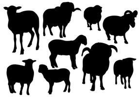 Vetor de silhueta de ovelha grátis