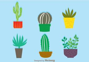 Cactus em um pote vetores