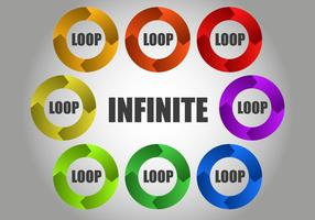 Vetor de loop circular infinito grátis