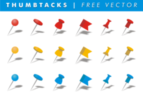 Thumb tacks free vector