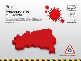 mapa do país afetado pelo brasil de disseminação de coronavírus vetor