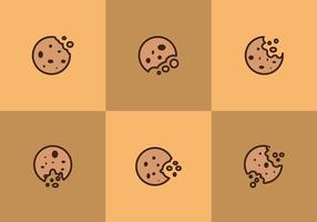 Vetores de cookies mordidos grátis